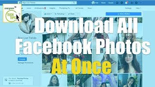 Download All Photos/Videos from Facebook Friends/Page Photo Albums in one click
