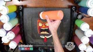 Inside Out Pancake Art - Anger