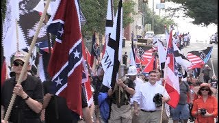 #Charlottesville NEO NAZIS Yell  'Blood and Soil'' March Through Streets of #CVille 8/12/17