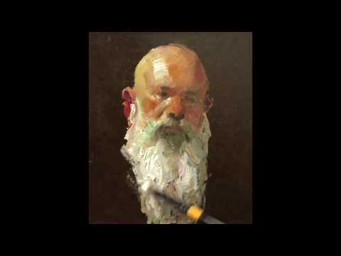 """John"", mini portrait painting demo by Zimou Tan"