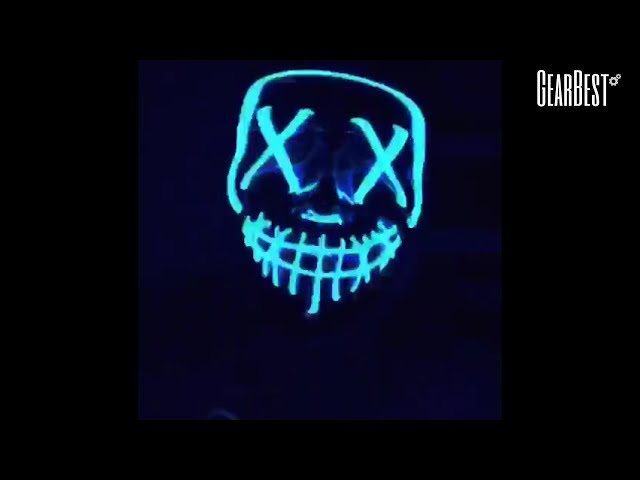 Mask LED Light up Purge Mask for Festival Cosplay Costume