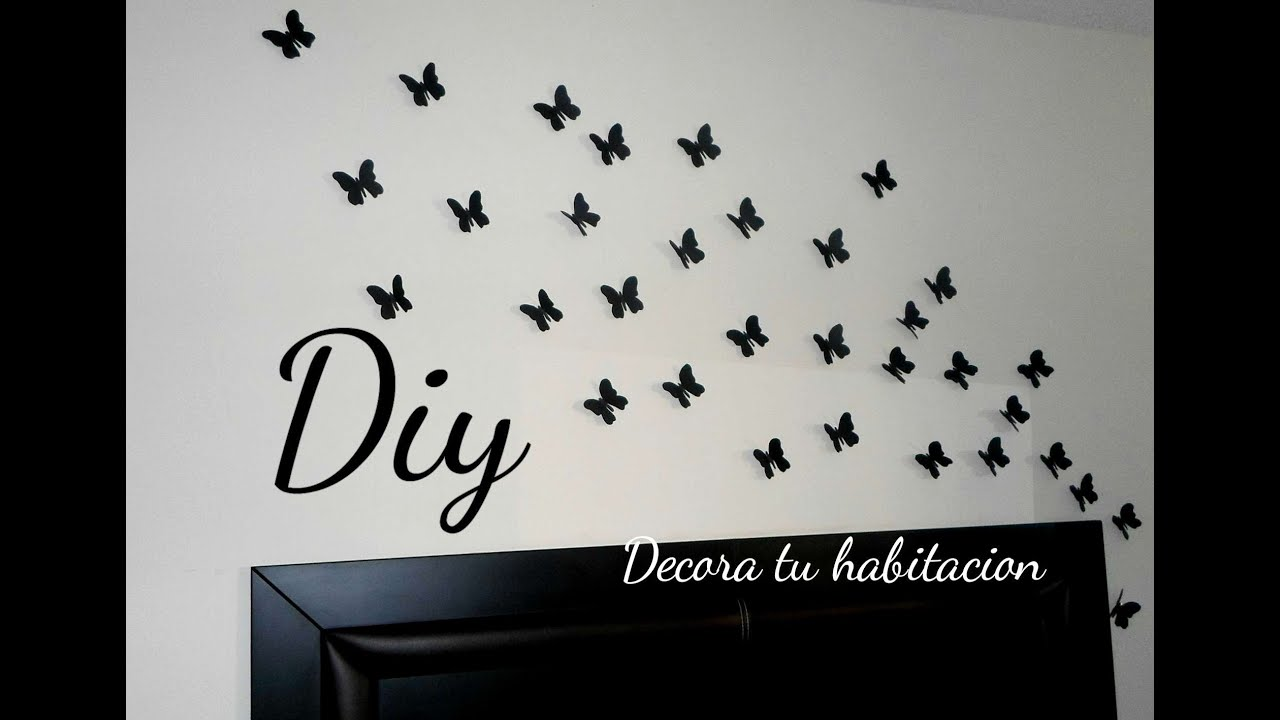 Decora tu habitaci n colab lore pe aloza mariposas en la for Como decorar tu pared