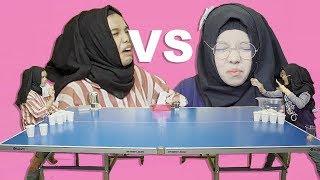 Gregetan Banget!!! Abqariyyah VS Fatimah Halilintar Jamu Pong Challenge