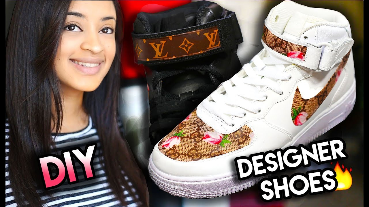 7d481ffaf DIY: GUCCI, LOUIS VUITTON, BAPE YOUR SHOES USING A SNEAKAL! NO FABRIC,  SEWING, PAINTING REQUIRED