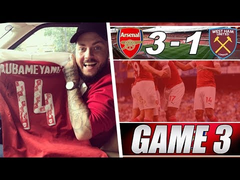 Arsenal 3 v 1 West Ham - Not A Great Performance But We Won - Matchday Vlog