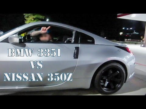 BMW 335i vs NISSAN 350z - YouTube