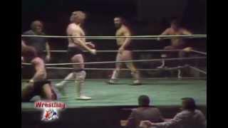 """Bruiser Brody & Dick Slater vs """"Bruiser"""" Bob Sweetan & """"Hacksaw"""" Jim Duggan"""