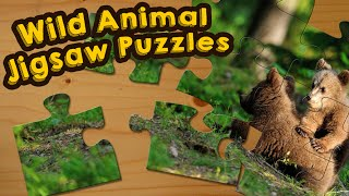 Wild Animals Jigsaw Puzzle Game for Kids - App Gameplay Video