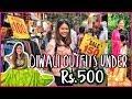DIWALI Shopping in SAROJINI NAGAR   3 Outfit Ideas Under Rs.500