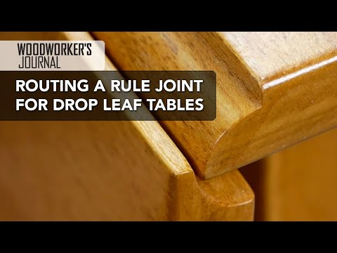 Routing a Rule Joint to Make a Drop Leaf Table