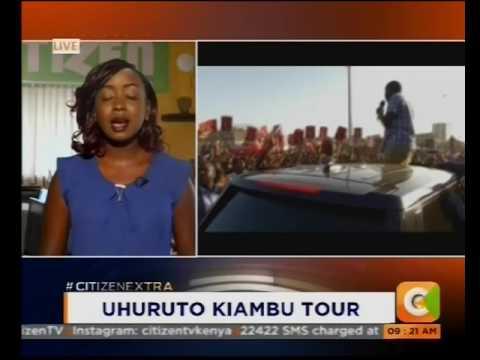 President Uhuru Kenyatta and DP William Ruto in Kiambu tour #CitizenExtra