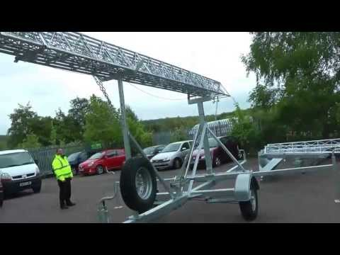 Trailer Mast Trailer Tower Manufactured by Radio Structures - Radio, CCTV, Photography