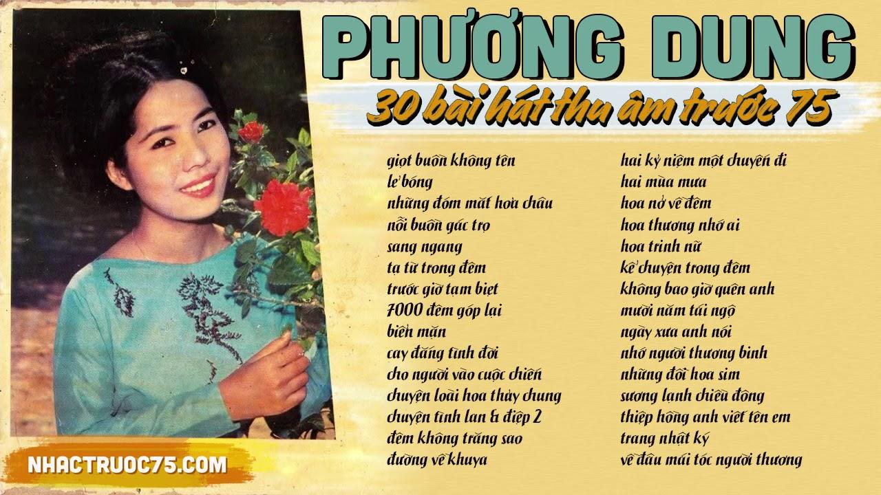 Phương Dung và 30 bài Nhạc Vàng hay nhất chọn lọc (thu âm trước 1975)