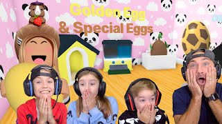 We Hatched Golden Eggs, A Safari Egg, A Jungle Egg...PLUS MORE!! Roblox Adopt Me!!