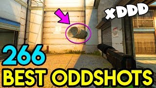 FLYING OBJECT PROTECT from FLASH - CS:GO BEST ODDSHOTS #266