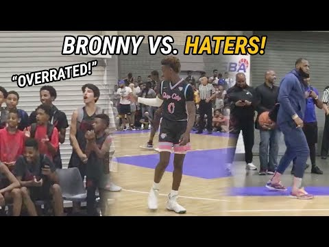 "Bronny James & Blue Chips Quiet ""OVERRATED"" Chants With 60 Point Win! LeBron Dances With Fam!"