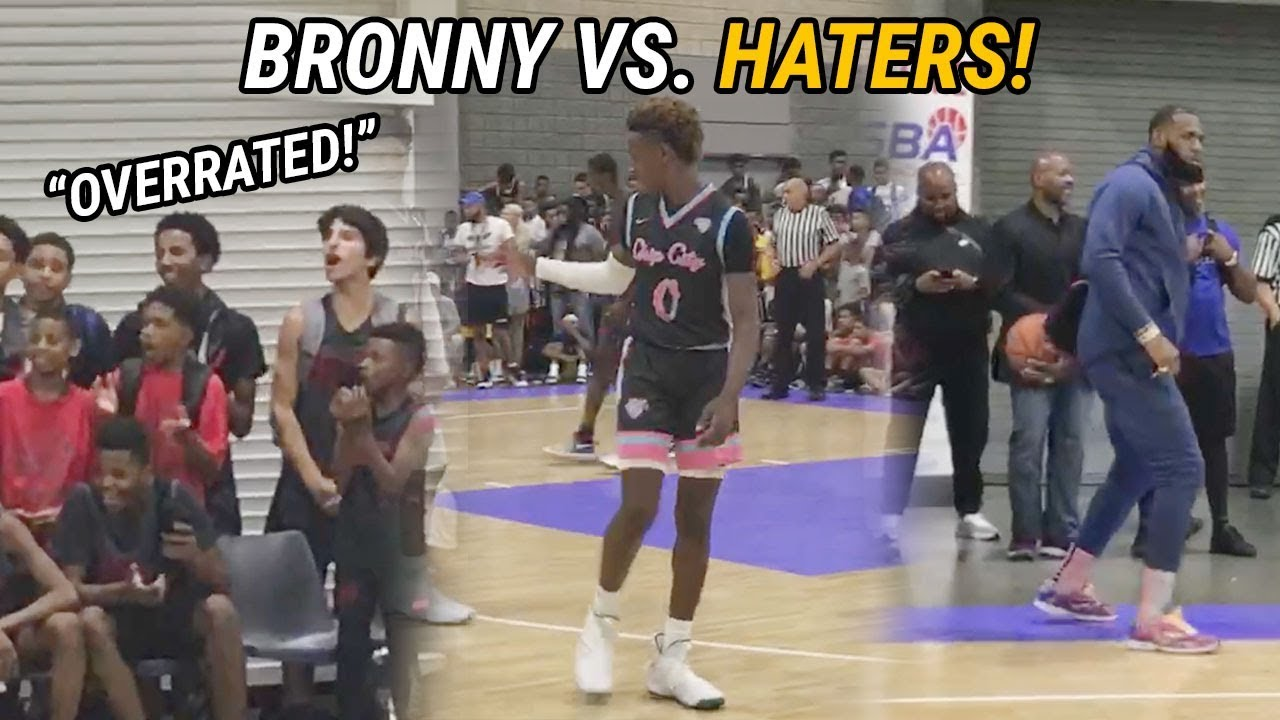 bronny-james-blue-chips-quiet-overrated-chants-with-60-point-win-lebron-dances-with-fam