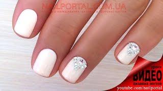 Дизайн ногтей гель-лак shellac - Дизайн стразами (видео уроки дизайна ногтей)