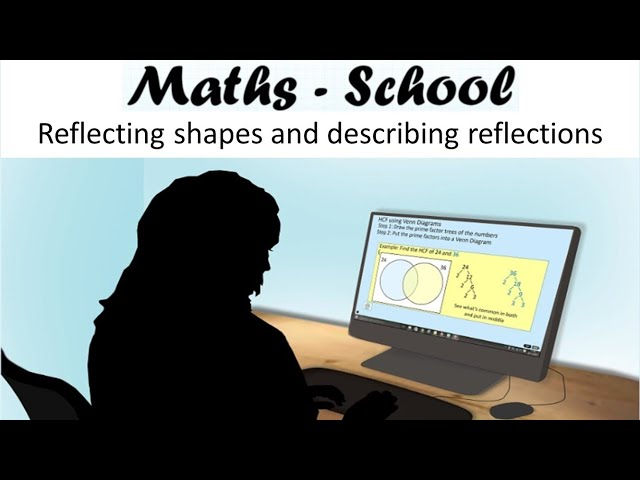 REFLECT shapes in mirror lines using equations of lines : Maths - School GCSE Revision