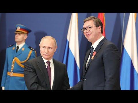 Встреча Владимира Путина с Александром Вучичем. Полное видео