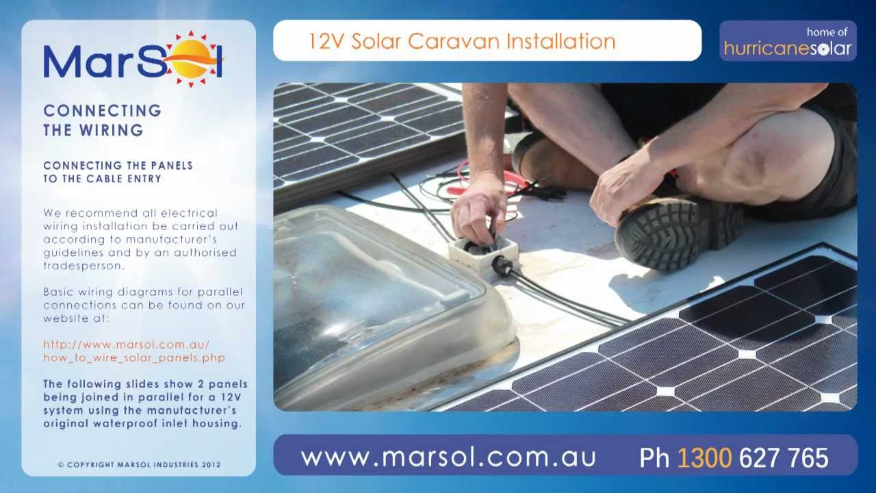solar caravan installation video guide hd youtube rh youtube com RV Solar Wiring-Diagram Solar Electric Installation Wiring Diagram