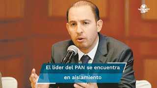 El dirigente del PAN informó que desde el día en que se reunió con todos sus próximos diputados federales comenzó con los síntomas
