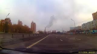 Смотреть видео FHD0151 Москва, 22.10.2017, культура вождения онлайн