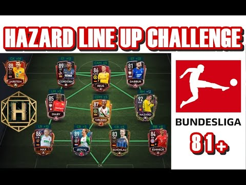 BUNDESLIGA SQUAD FOR HAZARD LINE UP CHALLENGE | GAMEPLAY | FIFA MOBILE 20 from YouTube · Duration:  10 minutes 2 seconds