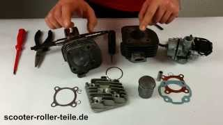 Leistungssteigernder Zylinder Sport einbauen Einbauanleitung Zylindekit Tuning 2 Takt