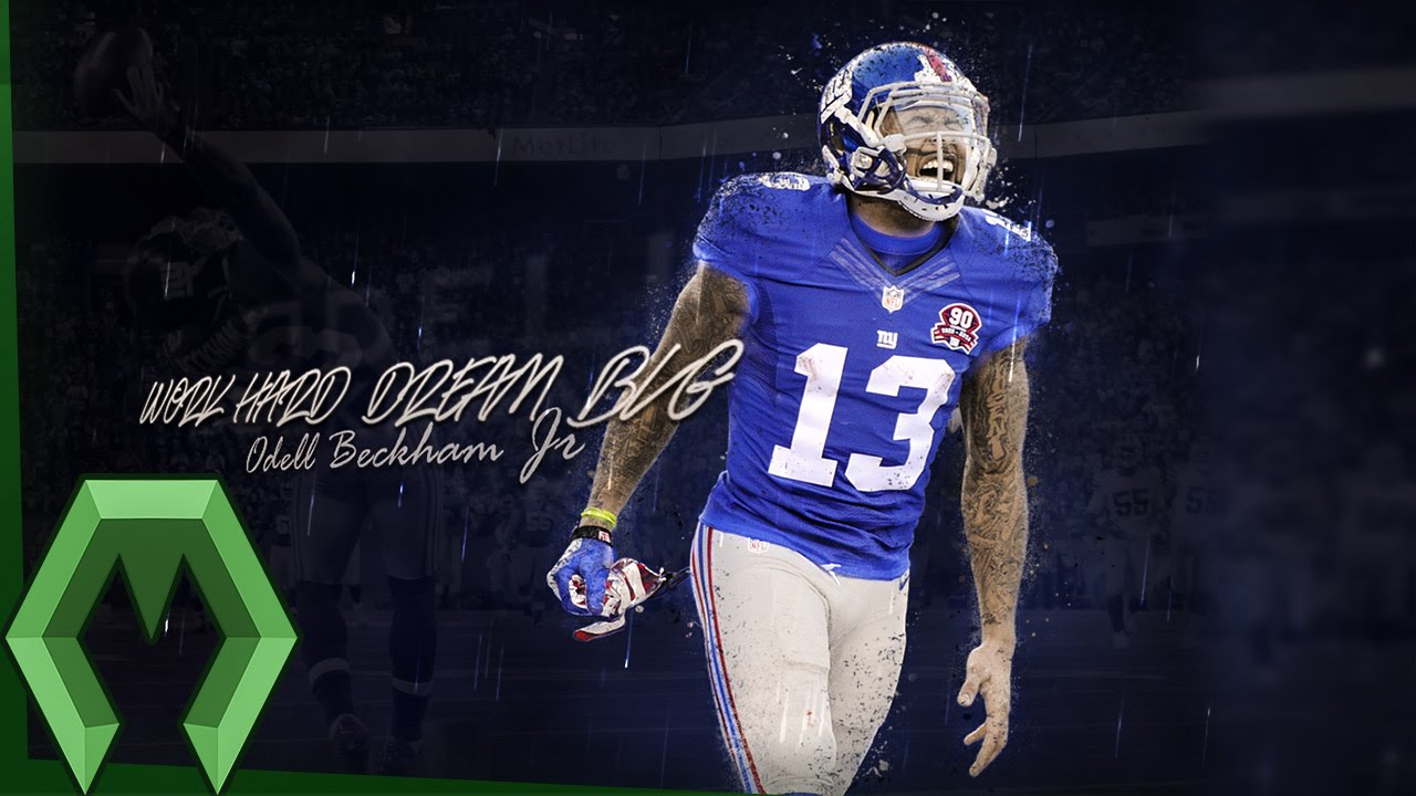 Nfl Player Edits Art: NFL Player Poster - Odell Beckham Jr.