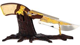 Авторский нож на подставке