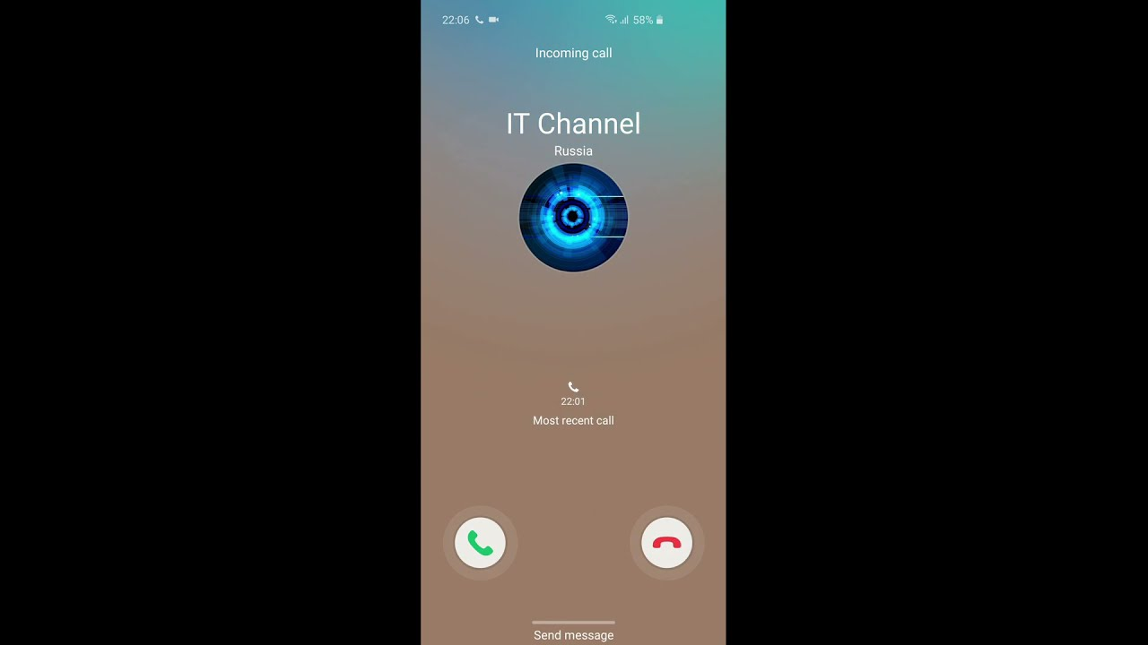 Samsung S10 incoming call (screen video)