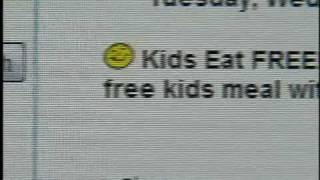 Find restaurants where kids eat for FREE