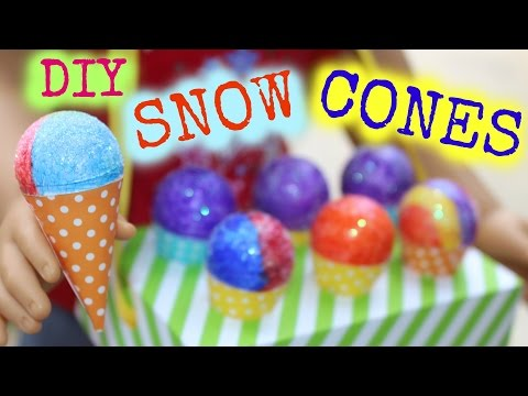 DIY American Girl Doll Snow Cones
