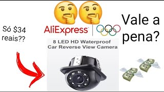 Câmera de ré com LED do Aliexpress (Unboxing e análise)