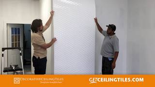 How to Install MirroFlex Wall Panel and Painting by Decorative Ceiling Tiles