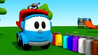 Pequeño Leo - Colores - Camiones - Carritos para niños
