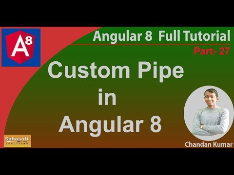 Custom pipe in Angular 8 | Angular 8 Tutorial in Hindi thumbnail
