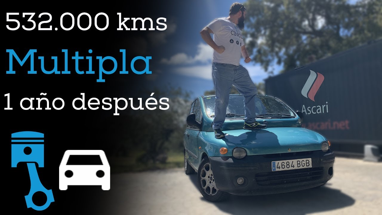👀Qué pasó con mi Fiat Multipla❓ | (1.9 JTD MEDIO MILLÓN de KMS +repro +escape LATERAL +24h Ascari)