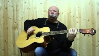 Гимн - СССР на гитаре и губной гармошке