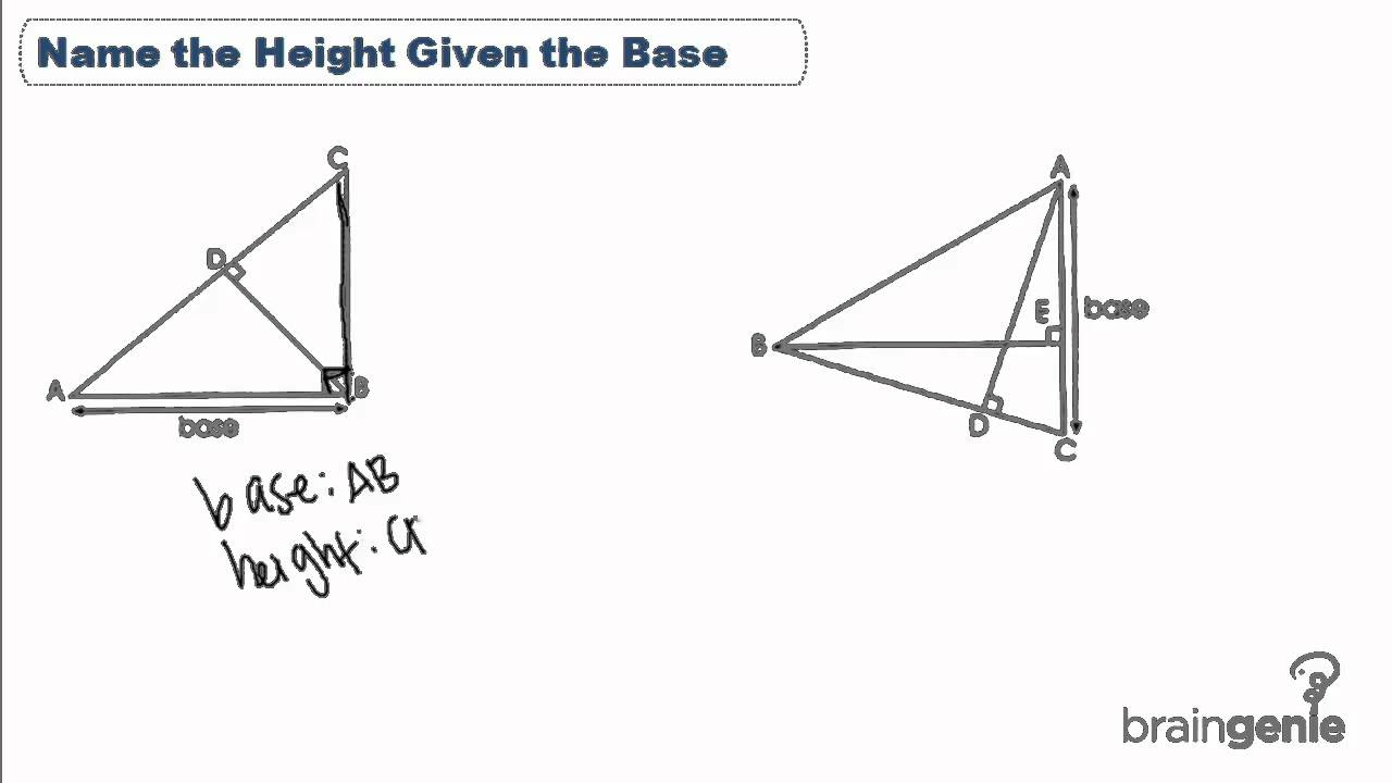how to work out the height in a triangle