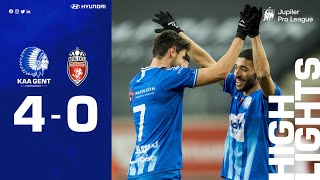 🎬 KAA Gent - Royal Excel Mouscron: 4-0 (MD 26⎢20-21)
