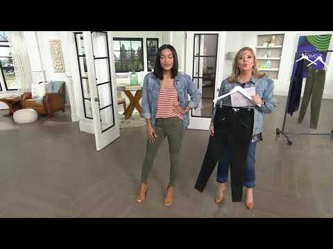 Rachel Hollis Ltd. Solid Moto Pants On QVC