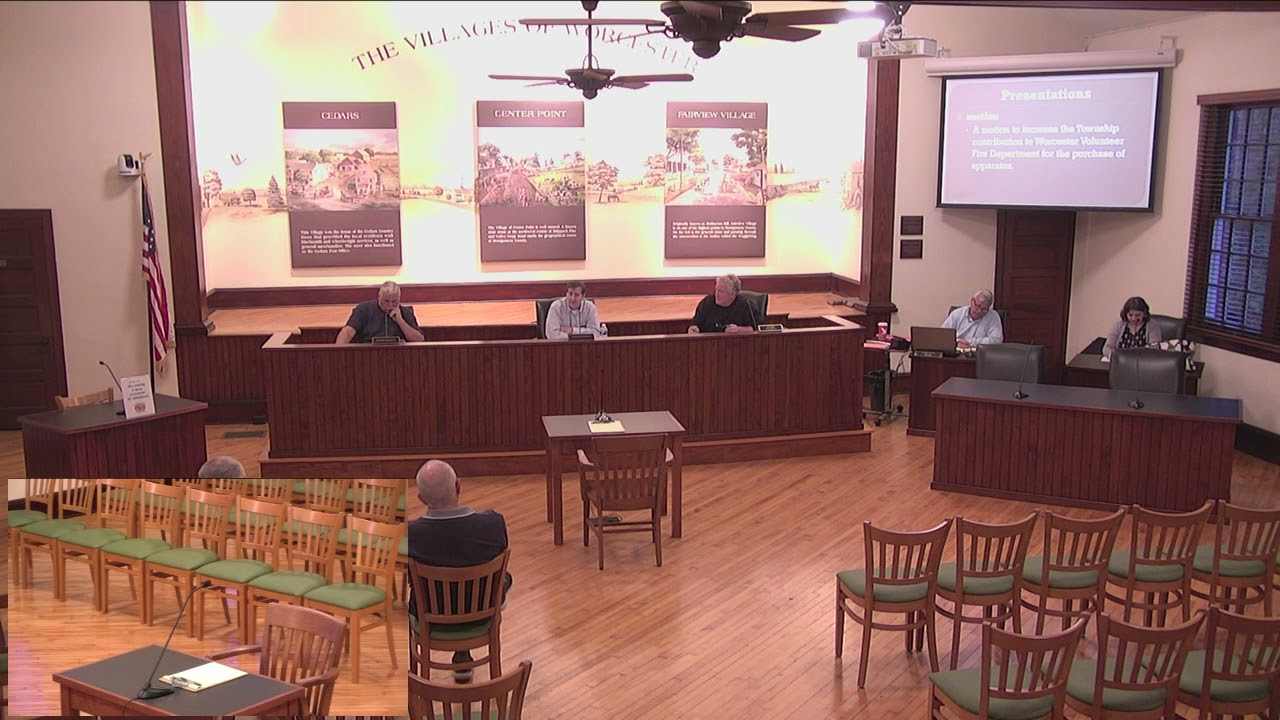 October 7, 2021 Worcester Township Board of Supervisors Special Meeting