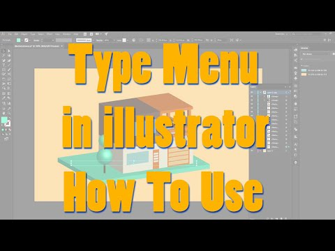 Text Menu Bar In Illustrator|| Illustrator Tutorial|| Text Menu