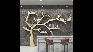 나무 모양 책장 거실 벽 장식 인테리어 선반 책꽂이