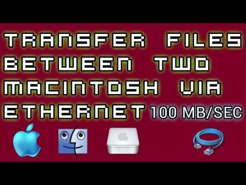 Mac Tutorials [12] - Transfer Files Between Macs Using Ethernet Cable At 100 MB Per Second