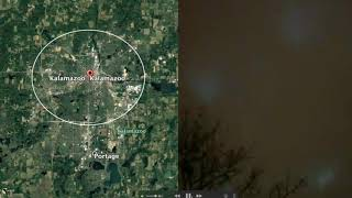 Man CLEARLY shaken as he witnesses these strange green lights in the sky at 3:15am