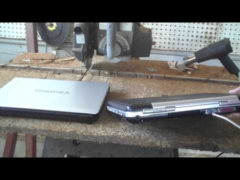 How to clean a notebook's cooling system using compressed air