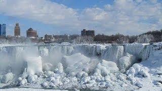 Морозы в США: Замерз Ниагарский Водопад и Гудзон. 2014